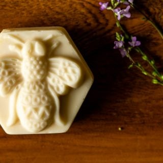 beeswax and honey soap bar