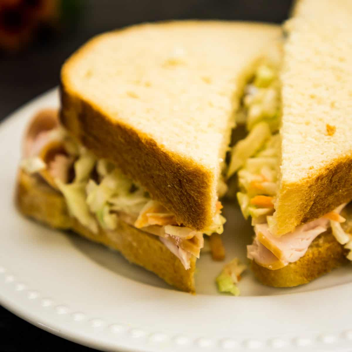 sandwich made with Hawaiian bread