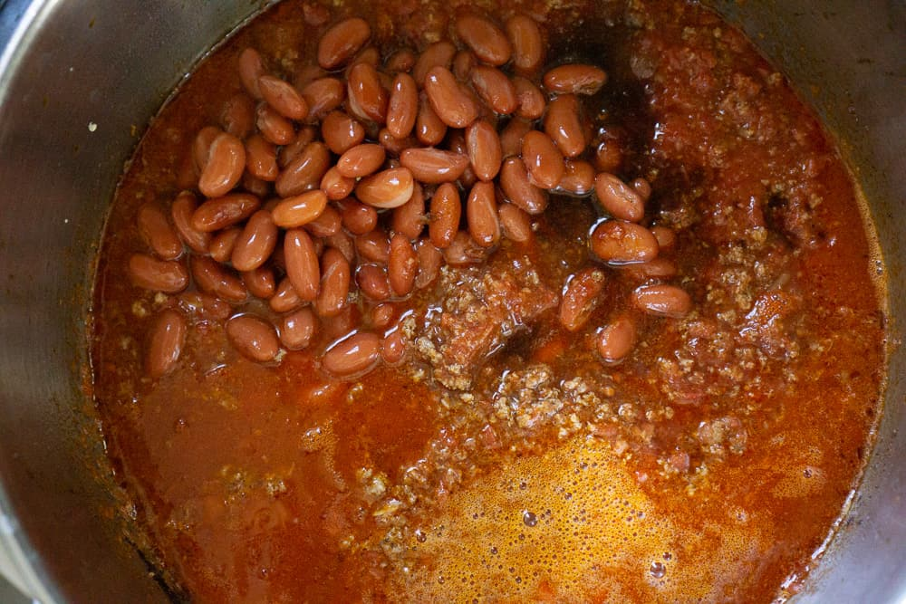 pot of chili with beans