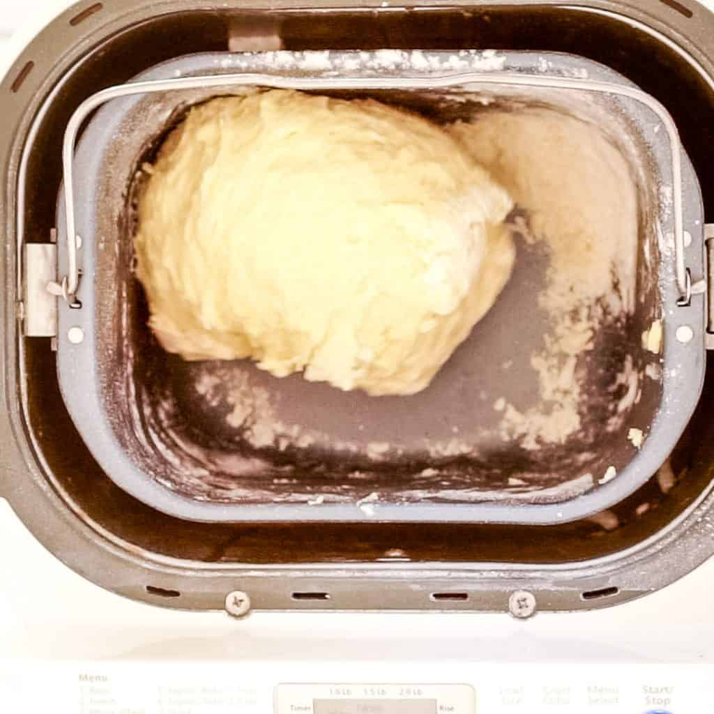 sticky brioche dough in bread machine