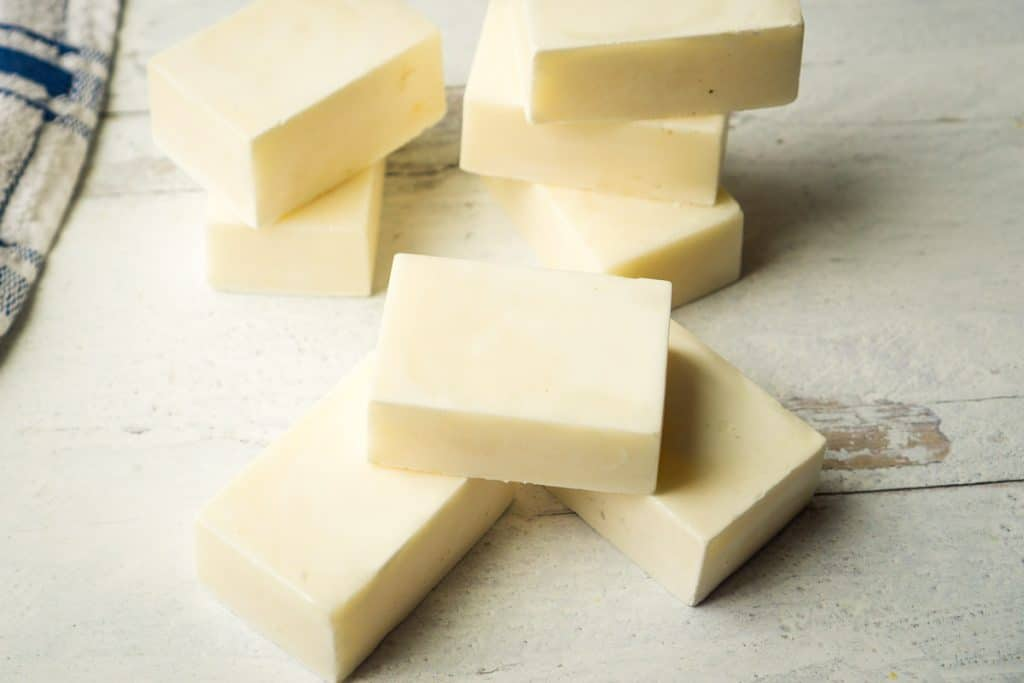 8 bars of off white soap