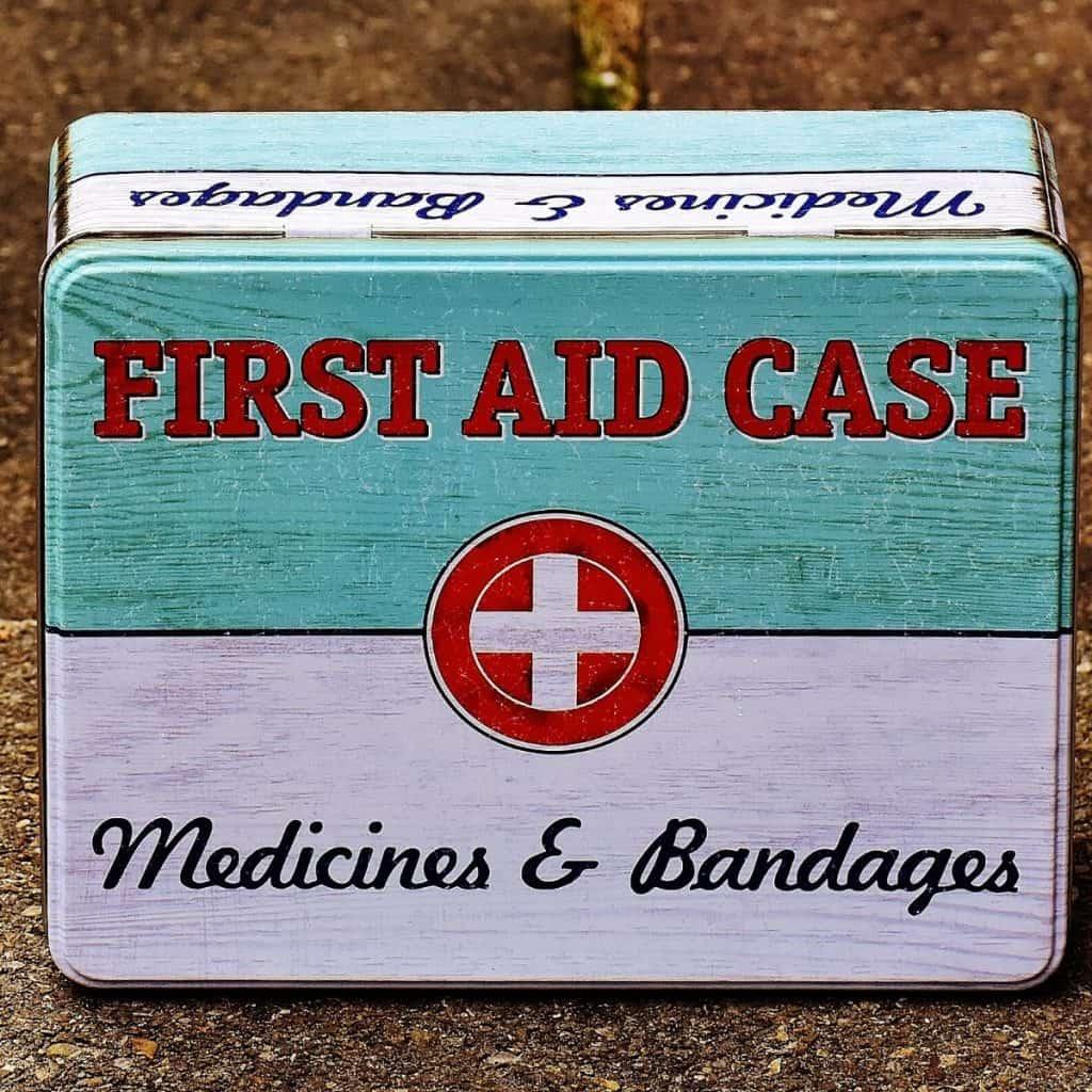 home first aid kit box