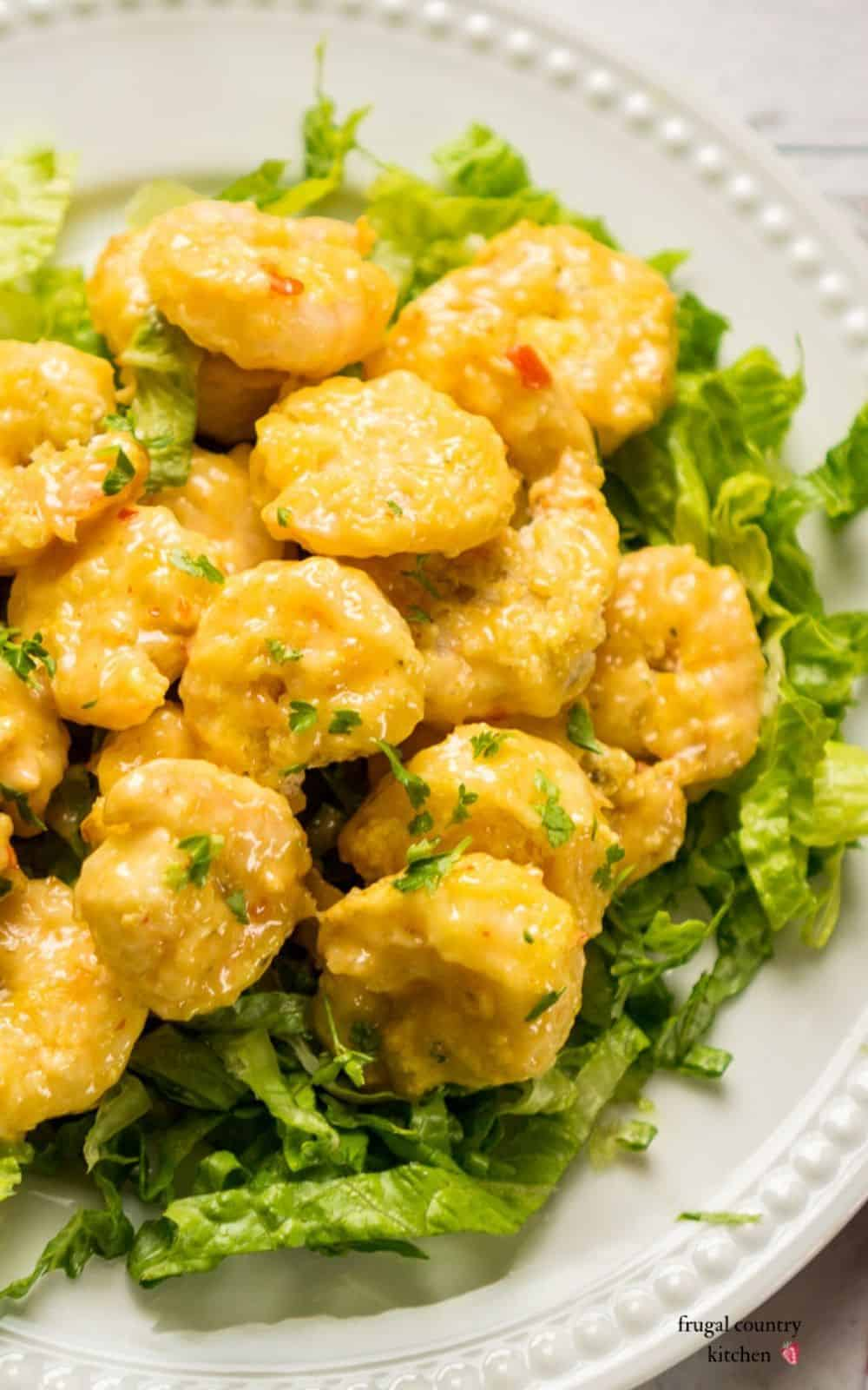 air fried shrimp in spicy sauce