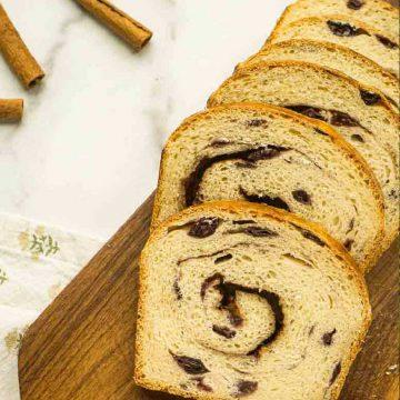 6 slices of bread next to cinnamon sticks