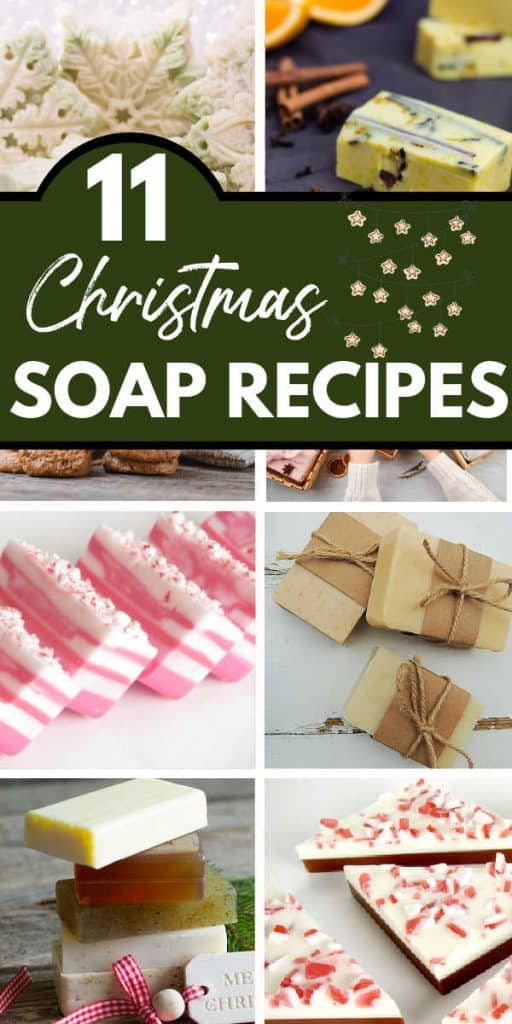 collage of christmas soaps