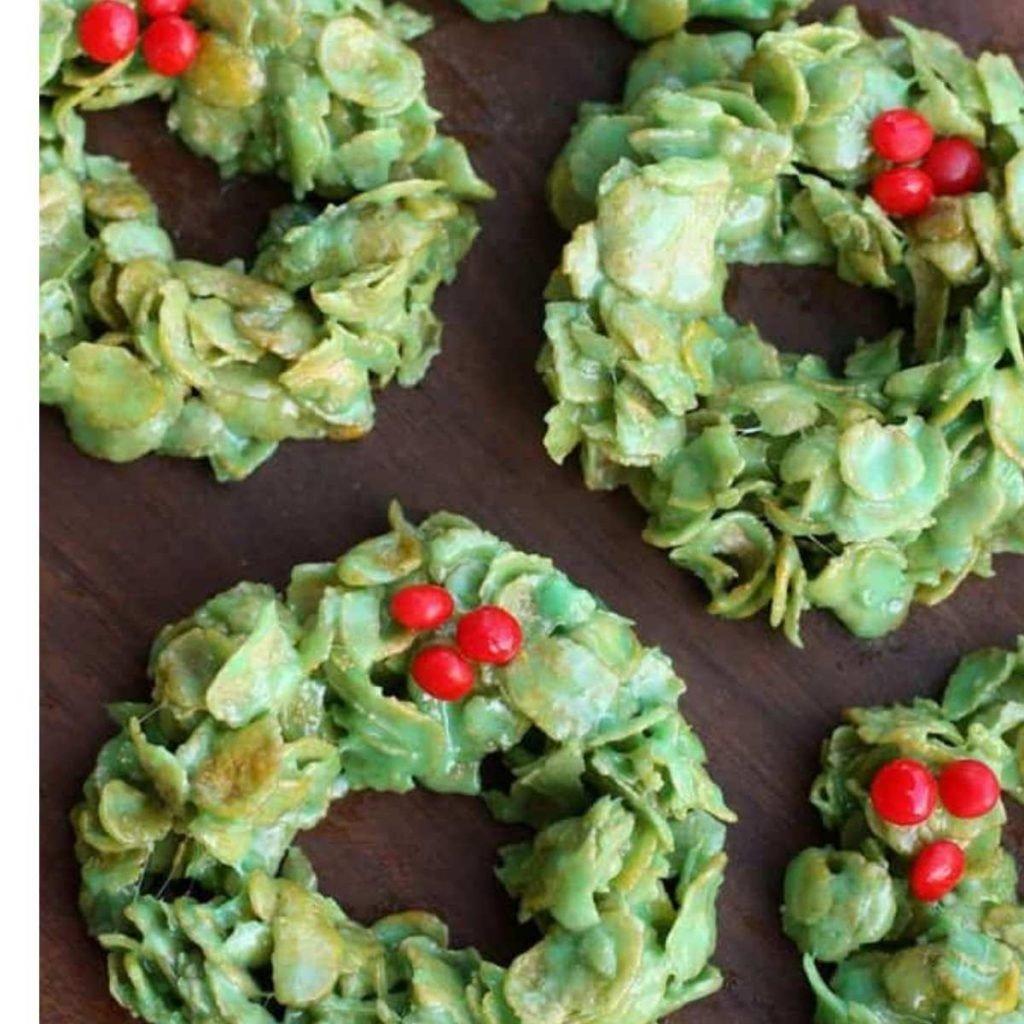 cornflake green christmas wreath