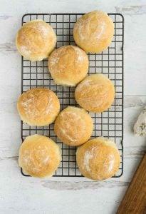 finished bread machine rolls