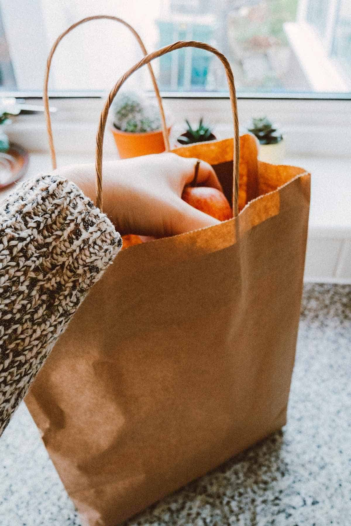 Walmart delivery bag with hand