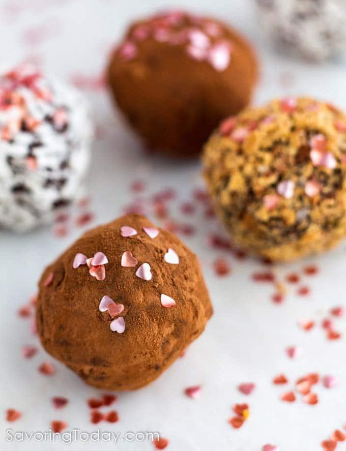 valentine's day homemade truffles