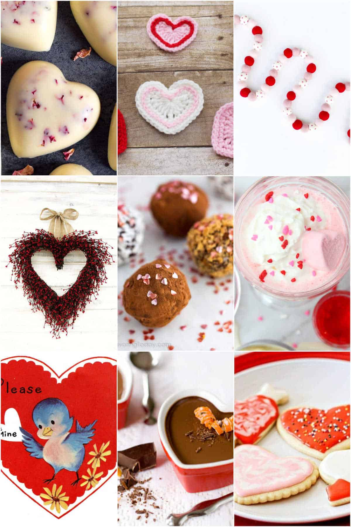 grid of 12 old fashioned valentines day ideas