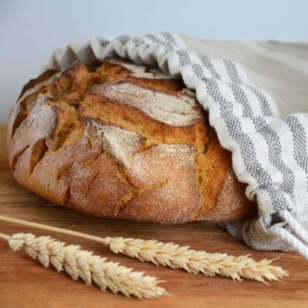 linen bag for homemade bread