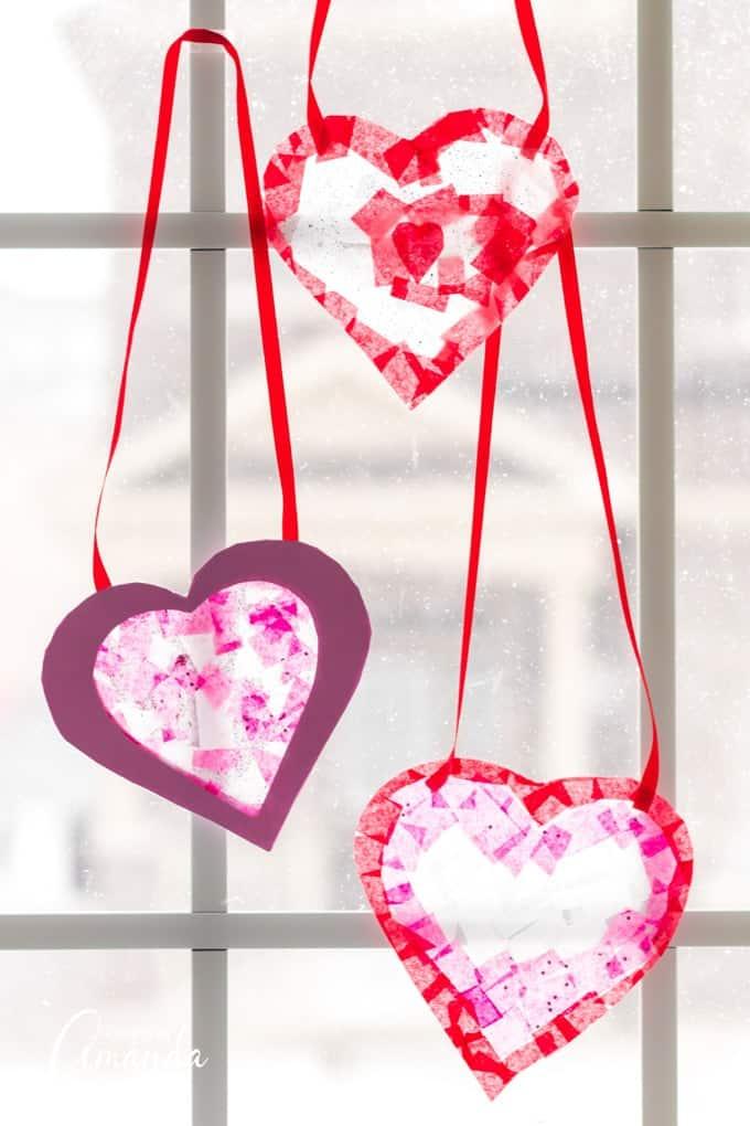 heart shaped suncatchers