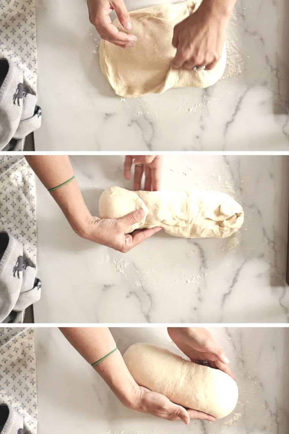 process of shaping sandwich loaf