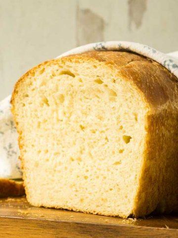 sliced loaf of sourdough bread