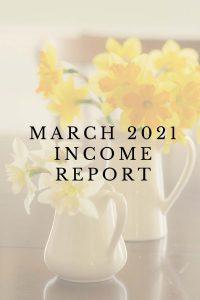 March 2021 Blogging Income Report
