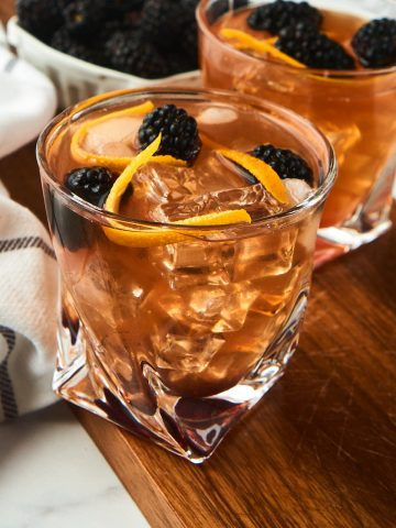 Blackberry Old Fashioned Cocktail