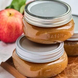 half pint jars of apple butter