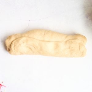 dough rolled into log