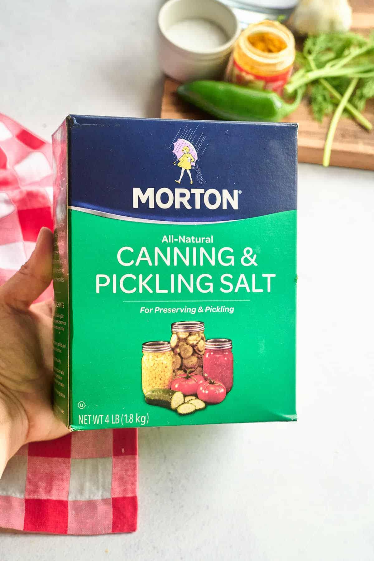 pickling salt box