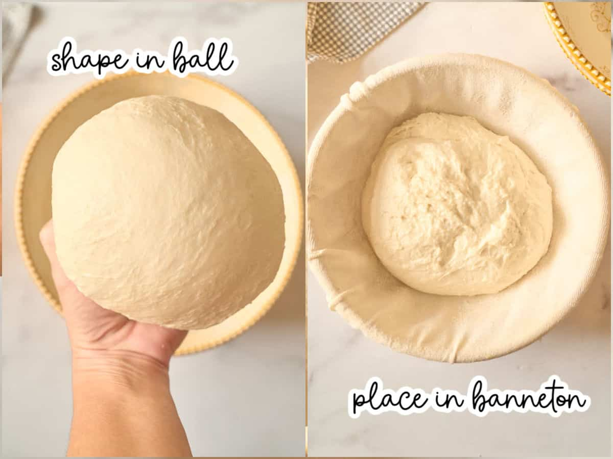 shaping dough for final proof
