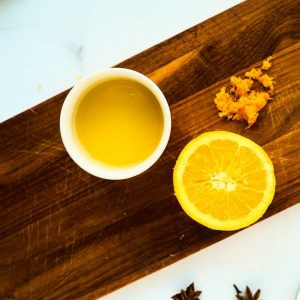 1 orange juice zested