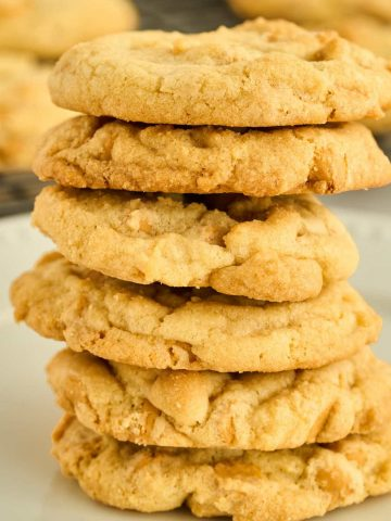 stack of 6 old fashioned butterscotch cookies